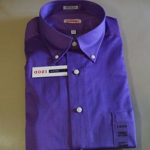 IZOD - Purple Long Sleeve Dress Shirt